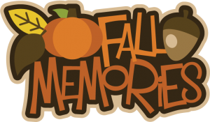 Fall Memories SVG scrapbook title fall svg files pumpkin svg file acorn svg file free svgs