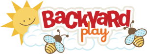 Backyard Play SVG scrapbook title bee svg file playing in backyard svg scrapbook title free svgs