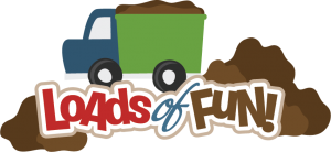 Loads Of Fun SVG scrapbook title dump truck svg file dump truck svg cut file for scrapbooking