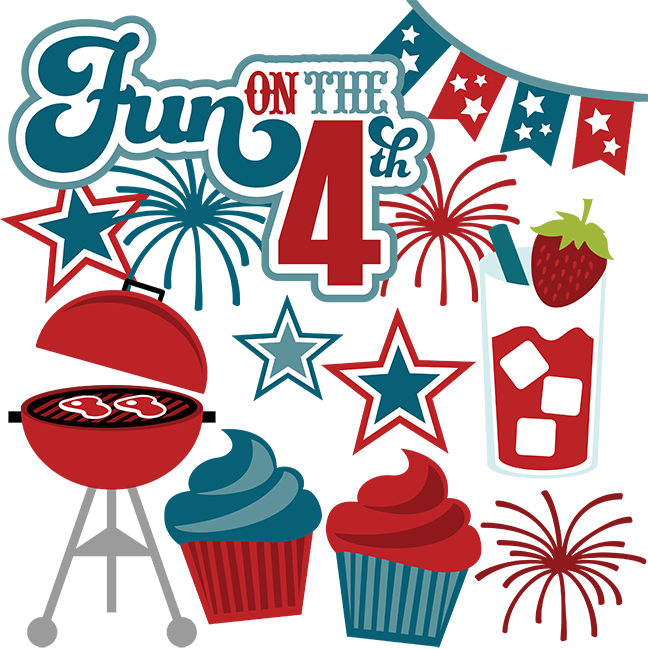 Fun On The 4th Svg Scrapbook Files 4th Of July Svg Files July 4th Svg Cut Files Free Svgs