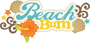 Beach Bum SVG scrapbook title beach svg cut file seashell svg files beach svg scrapbook title