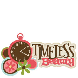 Timeless Beauty SVG scrapbook title girl svg scrapbook title girl svg files flower svgs clock svg