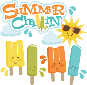 Summer Chillin' SVG cut files for scrapbooking popsicle svg cut file cute popsicle clipart