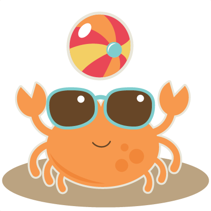Crab With Beach Ball SVG cut file for scrapbooking crab ...