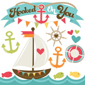 Hooked On You SVG cut files for scrapbooking sailboat svg file anchor svg file nautical svg cut files