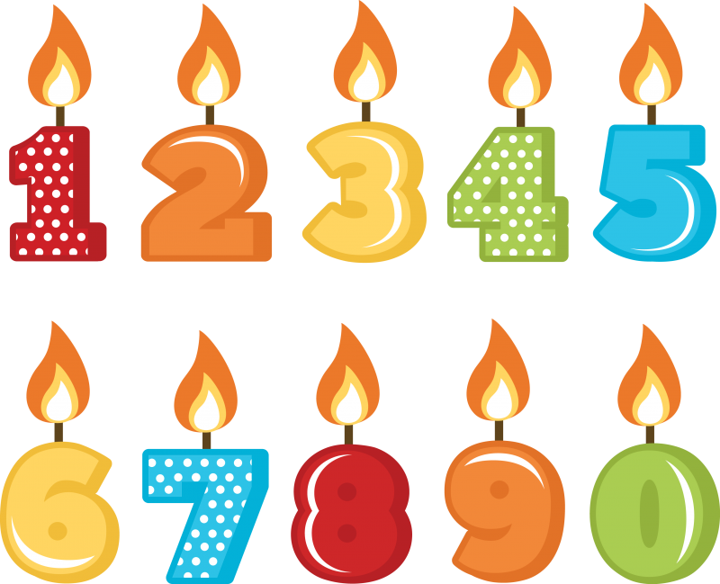 Birthday Candles SVG cut files for scrapbooking birthday ...