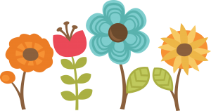 Flowers Set Of 4 SVG cut files for scrapbooking flower svg files flower svg cut files free svgs