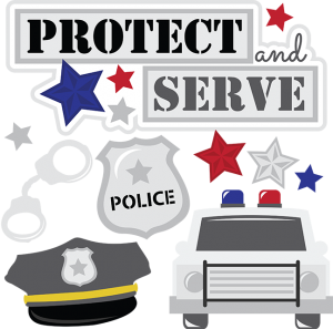 Protect And Serve SVG cut files for scrapbooking police svg files police car svg files police svg cut files