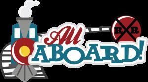 All Aboard! SVG scrapbook title train svg cut file train svg cuts free svgs cute svg cuts