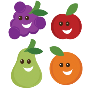 Happy Fruit SVG cut files for scrapbooking apple svg  file grapes svg file pear svg file orange svg file