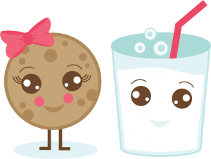 Milk & Cookie SVG cut file cute cookie svg file milk svg file cute svg cuts free svgs free svg cuts