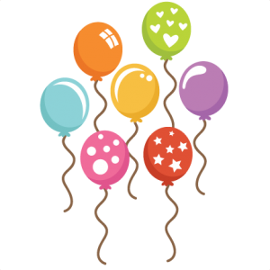Assorted Balloons SVG cut files balloon svg files birthday balloon svg cuts cute birthday balloon clipart