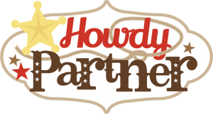Howdy Partner SVG scrapbook title cowboy svg cut files cowgirl svg cut files free svg cuts