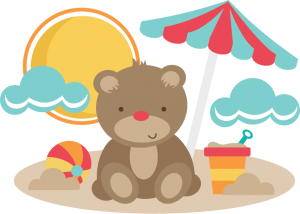 Bear At The Beach SVG cut files for scrapbooking bear svg file beach svg file free svgs