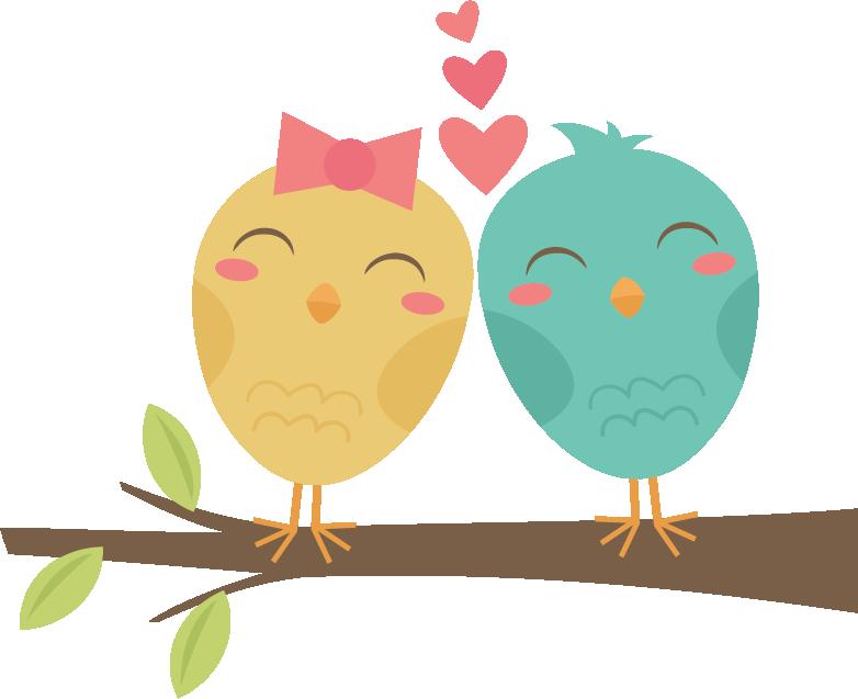Lovebirds On Branch SVG cut files for scrapbooking ...
