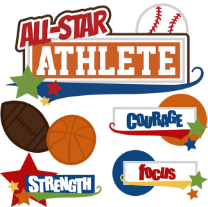 All-Star Athlete SVG cut files for scrapbooking baseball svg basketball svg football svg