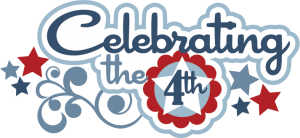 Celebrating The 4th SVG scrapbook title 4th of July SVG cut files free svg cuts cute svgs