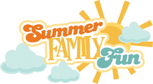 Summer Family Fun SVG scrapbook title summer svg files cloud svg files sun svg cuts