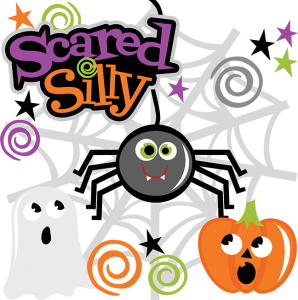 Scared Silly SVG files spider svg file ghost svg cut file pumpkin cut file halloween scal files