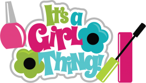 It's A Girl Thing SVG scrapbook title make up svg files girl svg cut files girl scrapbooking