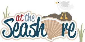 At The Seashore SVG scrapbook title beach svg scrapbook title seashell svg files seagull svg file