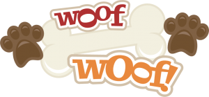 Woof Woof! SVG scrapbook title dog svg files cute svg cut files for cutting machines cute clipart