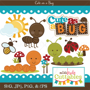 Cute As A Bug SVG bundle for cutting machines bug svg files cute bug svgs free svg files bug svg cut files