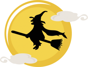 Flying Witch SVG cut file halloween svg files cute halloween svg cut files free svg cuts