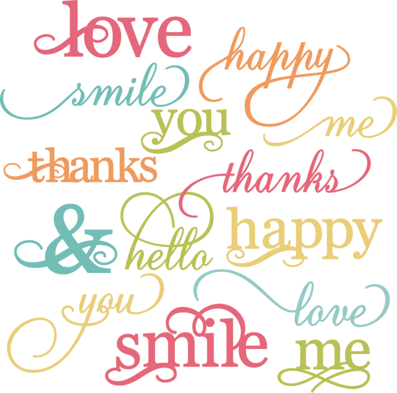 Pretty Words Svg Cut Files For Scrapbooking Words Svg Cut