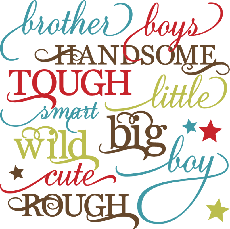 Boy Words Set Svg Cutting Files For Scrapbooking Paper