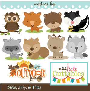 Outdoor Fun SVG Bundle fox svg skunk svg owl svg bear svg wolf svg deer svg raccon svg