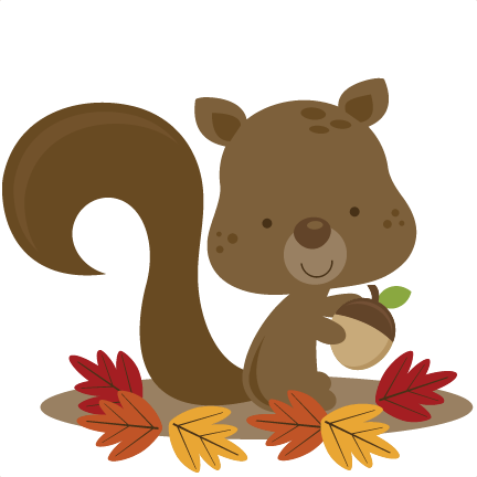 fall squirrel svg file for scrapbooking cardmaking