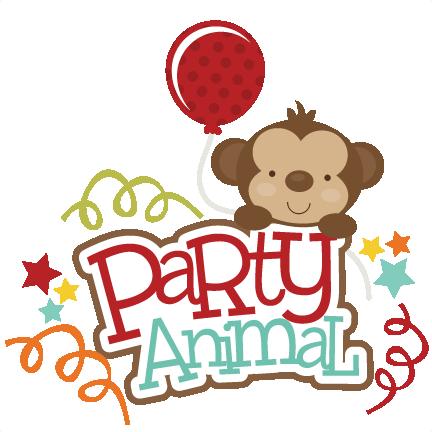Party Animal SVG scrapbook title monkey svg cut file for ...