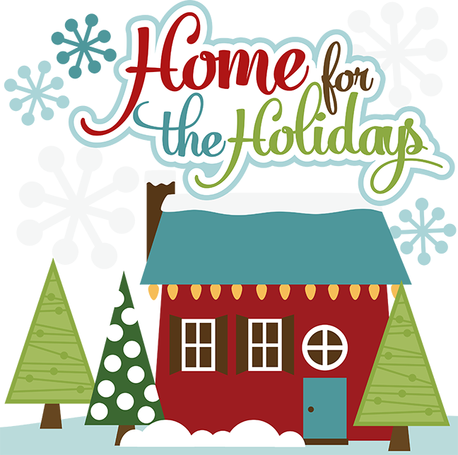 Home For The Holidays SVG Cut Files For Scrapbooking