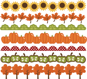 Fall Borders SVG cut files autumn svg files pumpkin border leaf border apple border free svgs