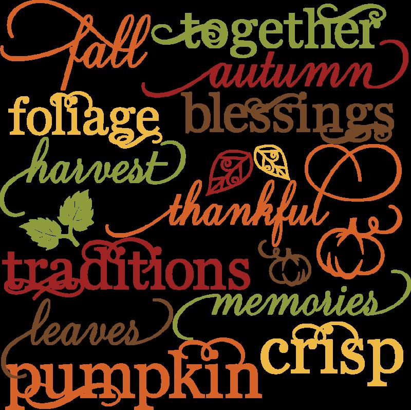 Fall Words Set SVG autumn svg file svg files for ...