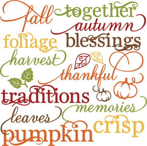 Fall Words Set SVG autumn svg file svg files for scrapbooking cute clipart fall svg cut files
