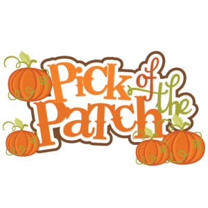 Pick Of The Patch SVG scrapbook title pumpkin svg files fall svg cuts autumn svg cut files