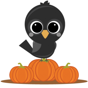 Crow On Pumpkins SVG cut files pumpkin svg file crow svg file pumpkin svg file autumn svg cut files
