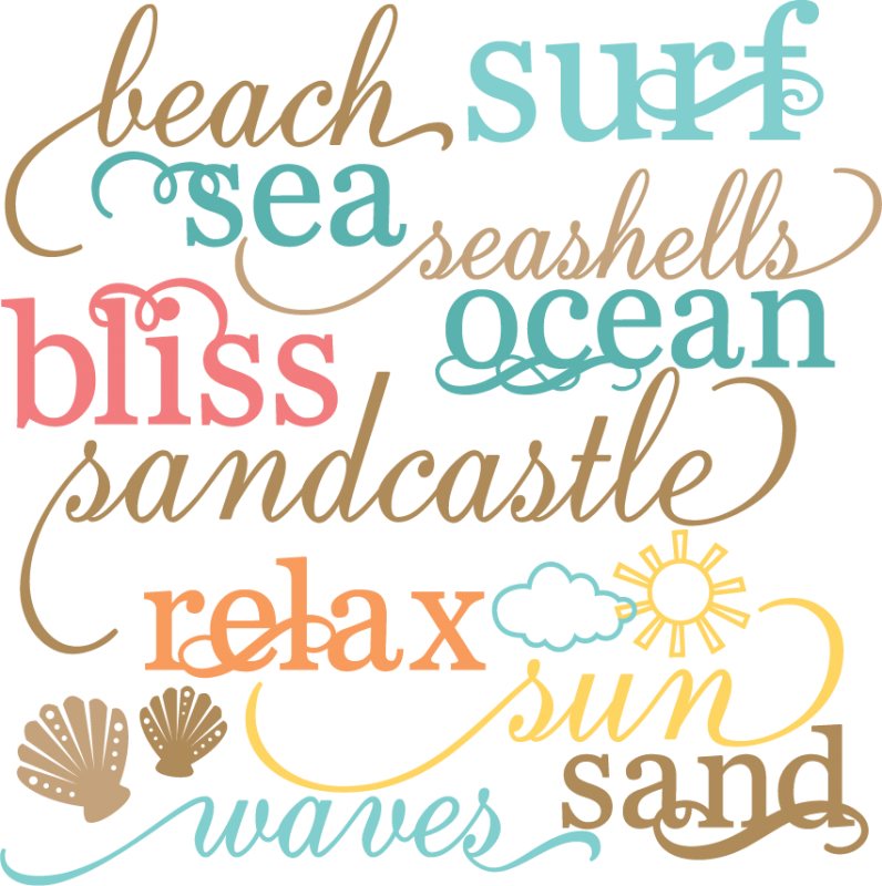 Download Beach Words Set SVG cut files beach svg files sun svg cuts ...