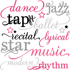 Dance Words Set SVG scrapbook title dance svg files dance cut files free svgs free svg cuts