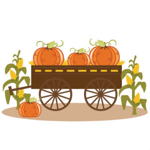 Pumpkins In Wagon SVG cut files for scrapbooking halloween svg files free svgs fall svg cut files