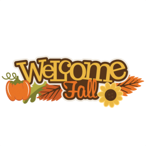 Welcome Fall SVG scrapbook title pumpkin svg file fall leaves svg cuts sunflower scal files