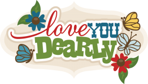 Love You Dearly SVG cut file svg scrapbook title free svg cuts free svgs