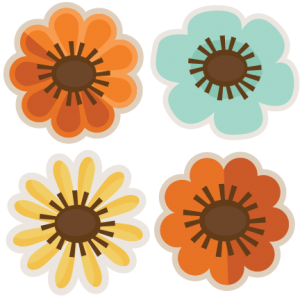Assorted Fall Flowers SVG cut files flower scal files free scut files free svgs for scrapbooking