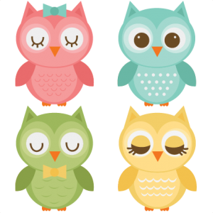 Assorted Owl Set SVG files for scrapbooking owl svg file owl svg cut file owl cut files