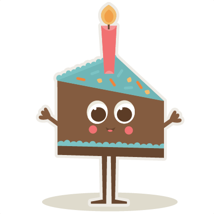 Birthday Slice Of Cake Svg Cut Files For Scrapbooking