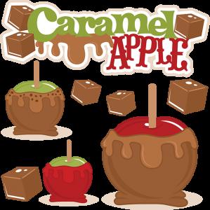 Caramel Apple SVG cut file caramel apple cutting file fall acal files fall scut file free svg cuts