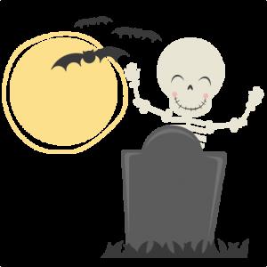 Cute Skeleton SVG cut file halloween svg cut files halloweeen scal cutting files free svg cuts
