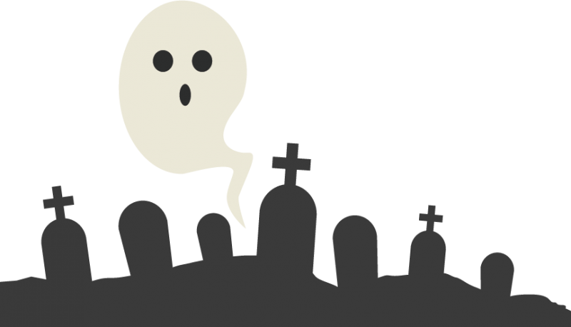 ghost in graveyard svg cutting file for scrapbooking ghost